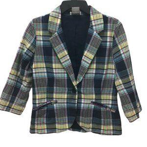 Chadwicks Vintage Plaid Jacket Blazer, 4